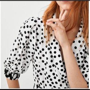 Zara Polka Dot Wrap Top NWT L